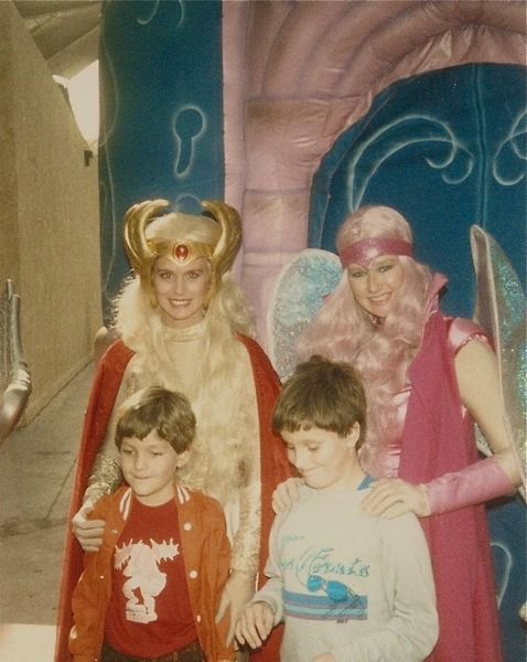 Josh meets She-Ra and Glimmer at Universal Studios, 01/01/1986.